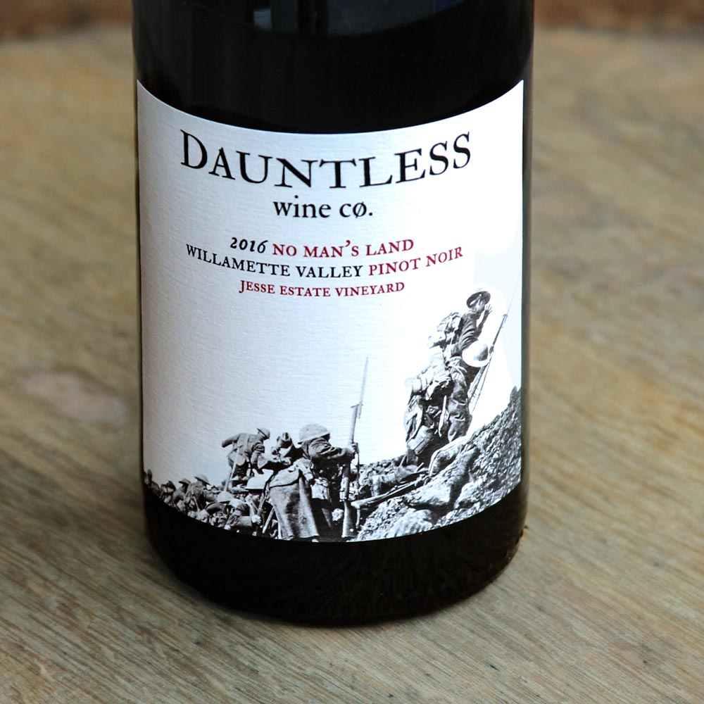The 2016 & 2015 No Man's Land Pinot  Noir is  made by Dauntless Wine Company from 100% Jesse Estate grown grapes. The fruit comes from our Blooming Hill Vineyard, all from our Wädenswil clones.