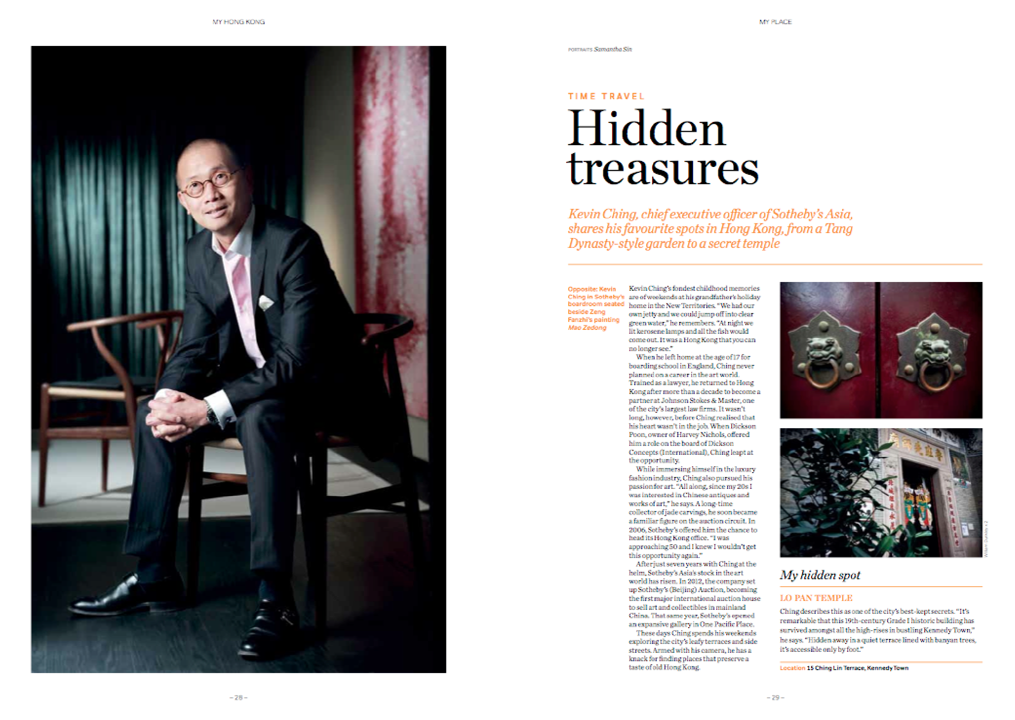 Profile on Sotheby's Kevin Ching -
