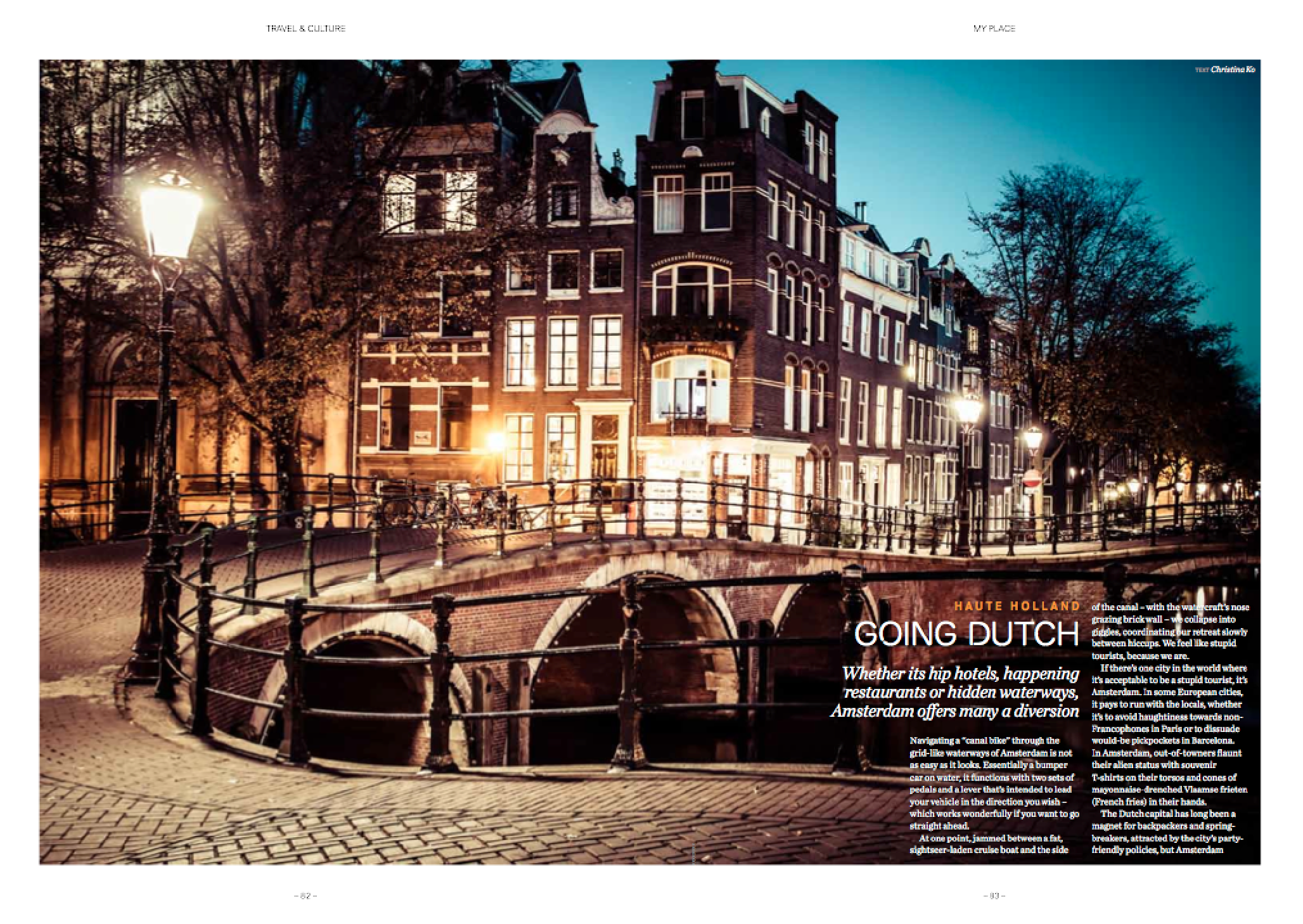 Amsterdam travel feature -