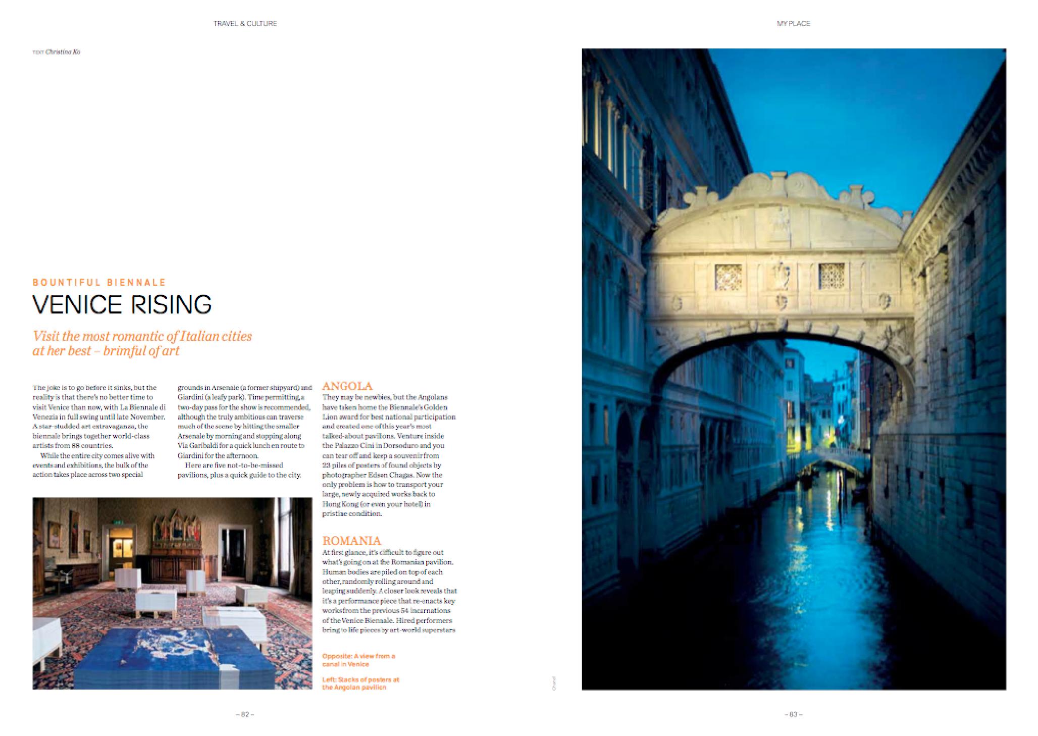 Venice travel feature -