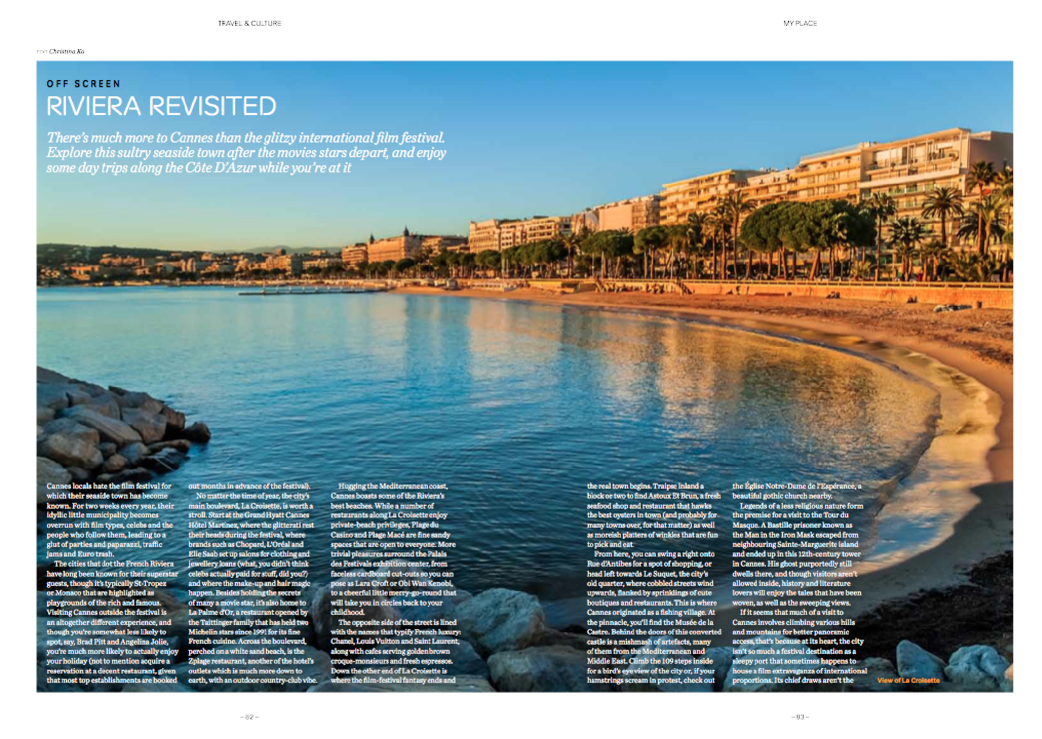 Cannes travel feature -