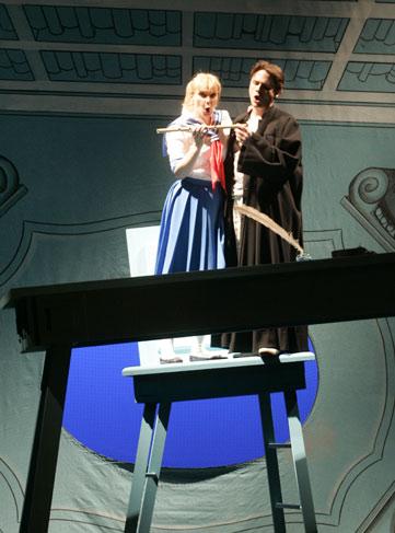 Mozart, Die Zauberflöte  (Tamino). Trier, Germany - 2008-09