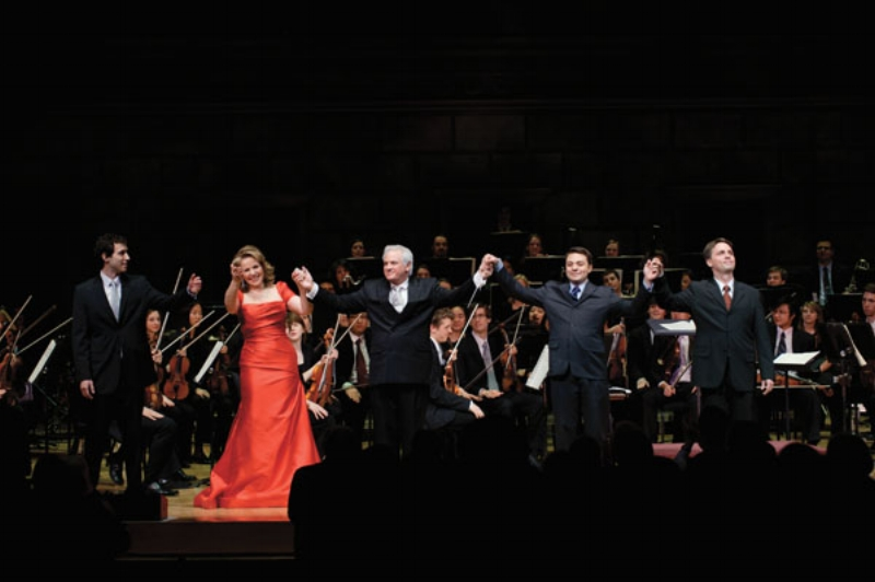 Opera Gala with Renée Fleming, 2011. Eastman Philharmonia - Neil Varon, conductor. Also pictured: Joshua Boullion and Matthew Grills.