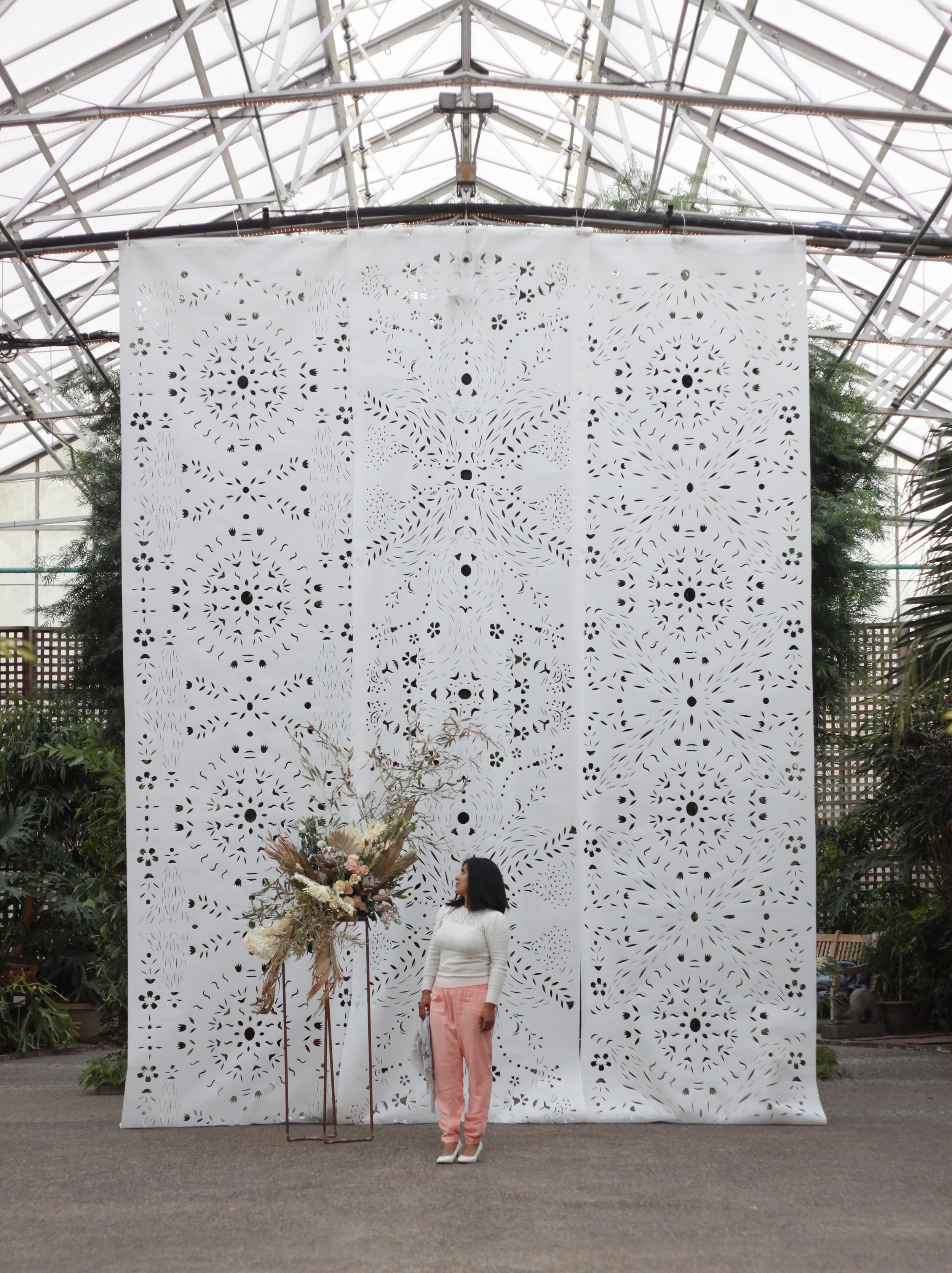 Karina Puente _ Papel Picado Art Installation _ Horticultural Center 2.jpg