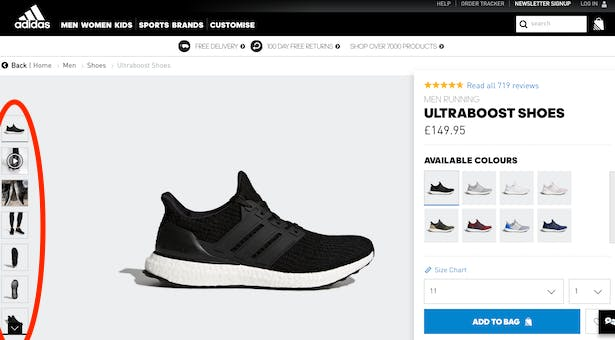 Image source:  Why Nike's refreshed product pages improve CX (& beat Adidas)
