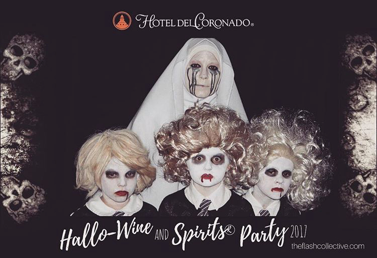Hotel del Coronado Photo booth supplier for Halloween party and other events.