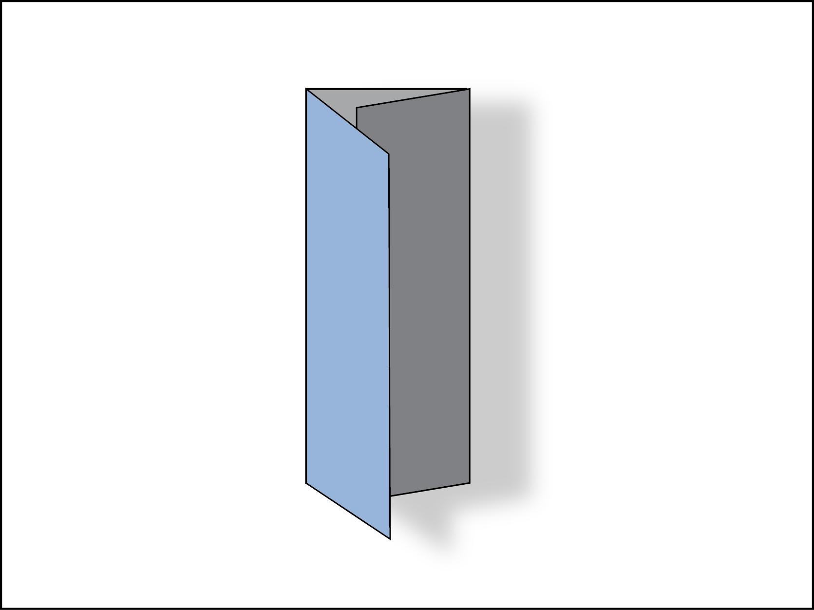 Trifold brochure: barrel fold