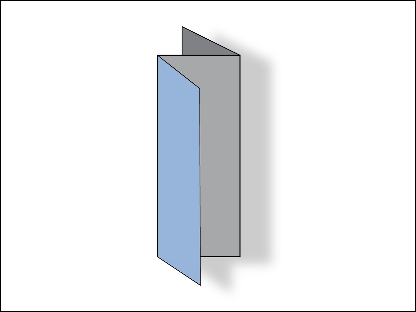 Trifold brochure: accordion fold