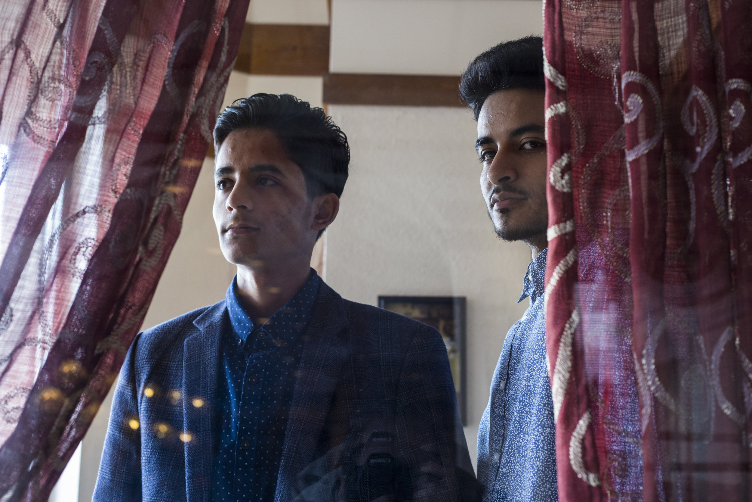 Ammar, 19, left and Tareq Aziz, 21, right, at Kabob, a Lebanese restaurant in Flint, Michigan on March 19, 2017. As a result of the travel ban this past January, the two brothers, natives of Yemen, were held at Dulles airport in Washington. They are plaintiffs in a law suit against President Trump.