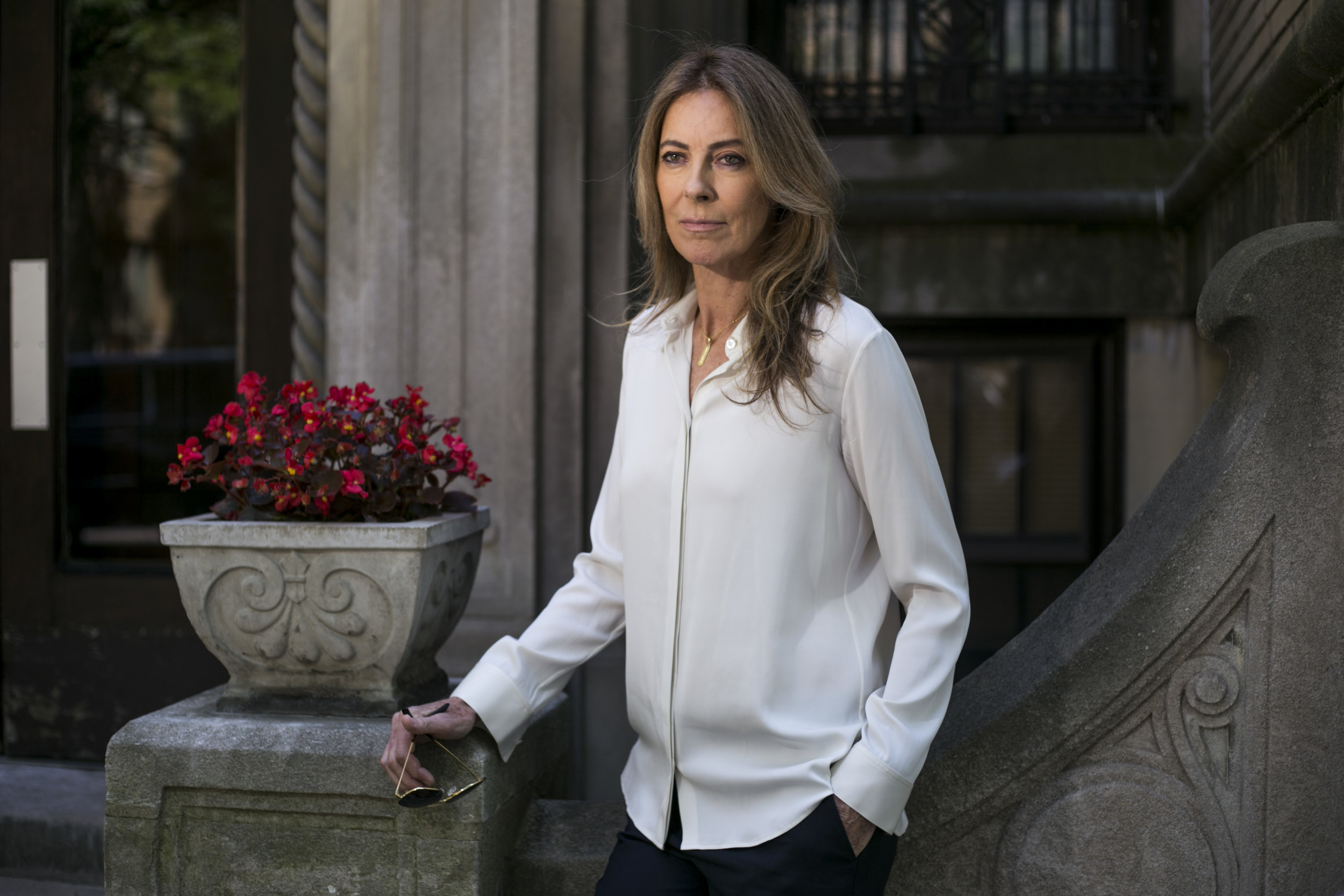 """Director Kathryn Bigelow near the site of the Algiers Motel just days before the world premiere of her film """"Detroit,"""" which chornicles the story of the 1967 Detroit rebellion in Detroit, Mich., on Tuesday, July 25, 2017."""