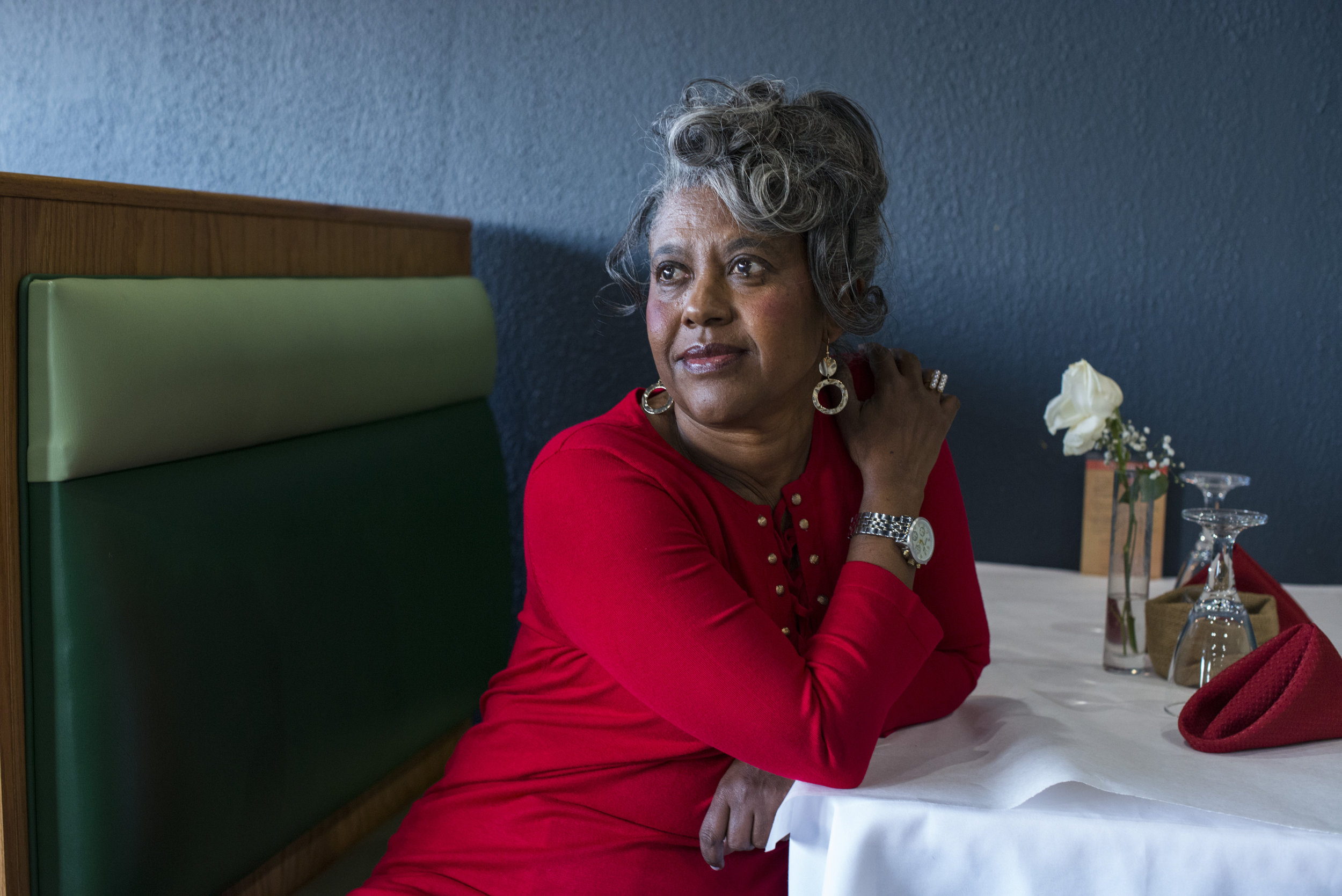 Meskerem Gevreyohannes, 58, of West Bloomfield, Mich., at her restaurant, Taste of Ethiopia, which has operated for 12 years in Southfield, Mich., on Tuesday, November 28, 2017.
