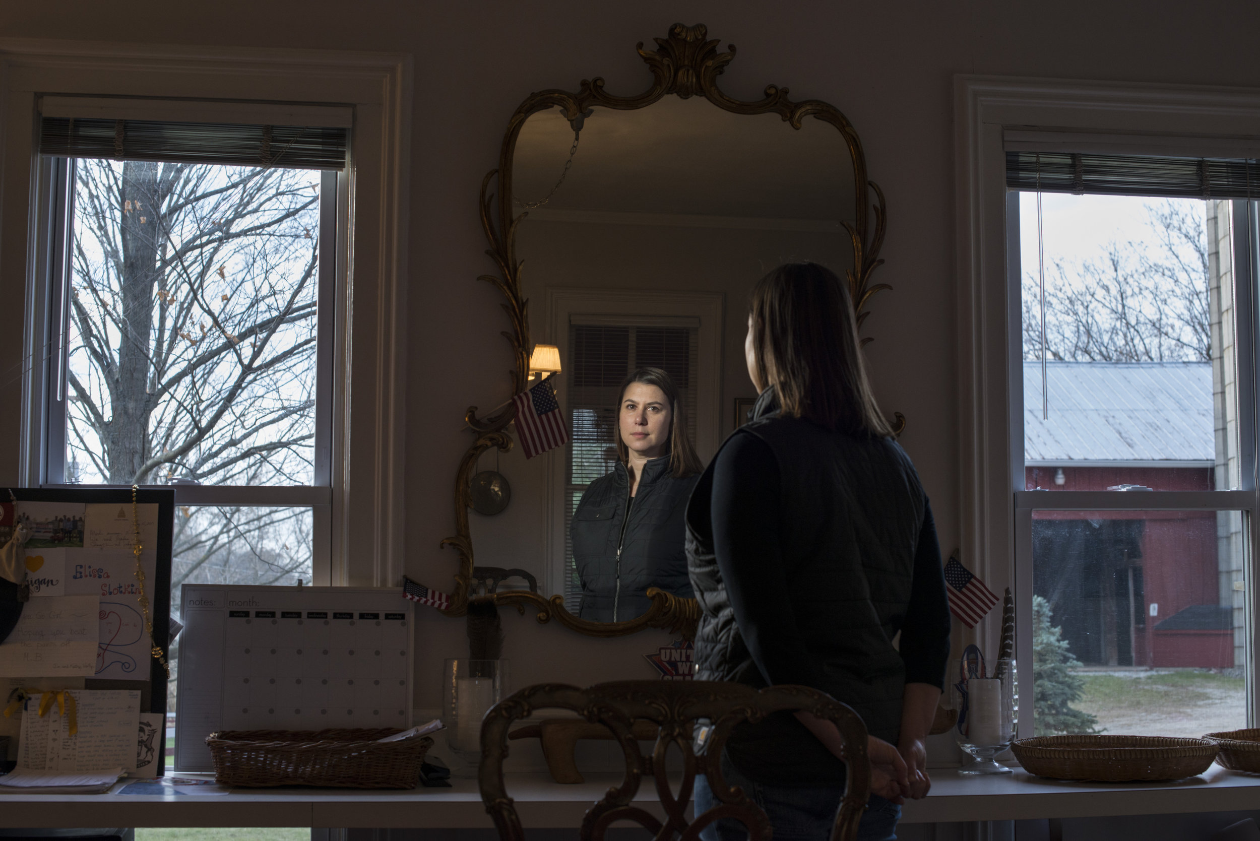 Congressional candidate for Michigan's 8th District, Elissa Slotkin, 41, at her home in Holly, Mich., on Saturday, December 2, 2017. Slotkin is the former Acting Assistant Secretary of Defense for International Security Affairs.
