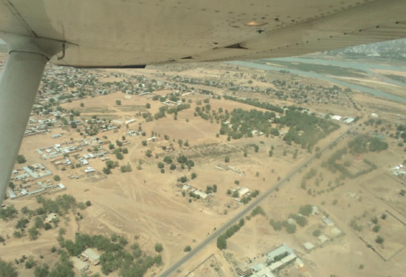 Flight over N'Djamena