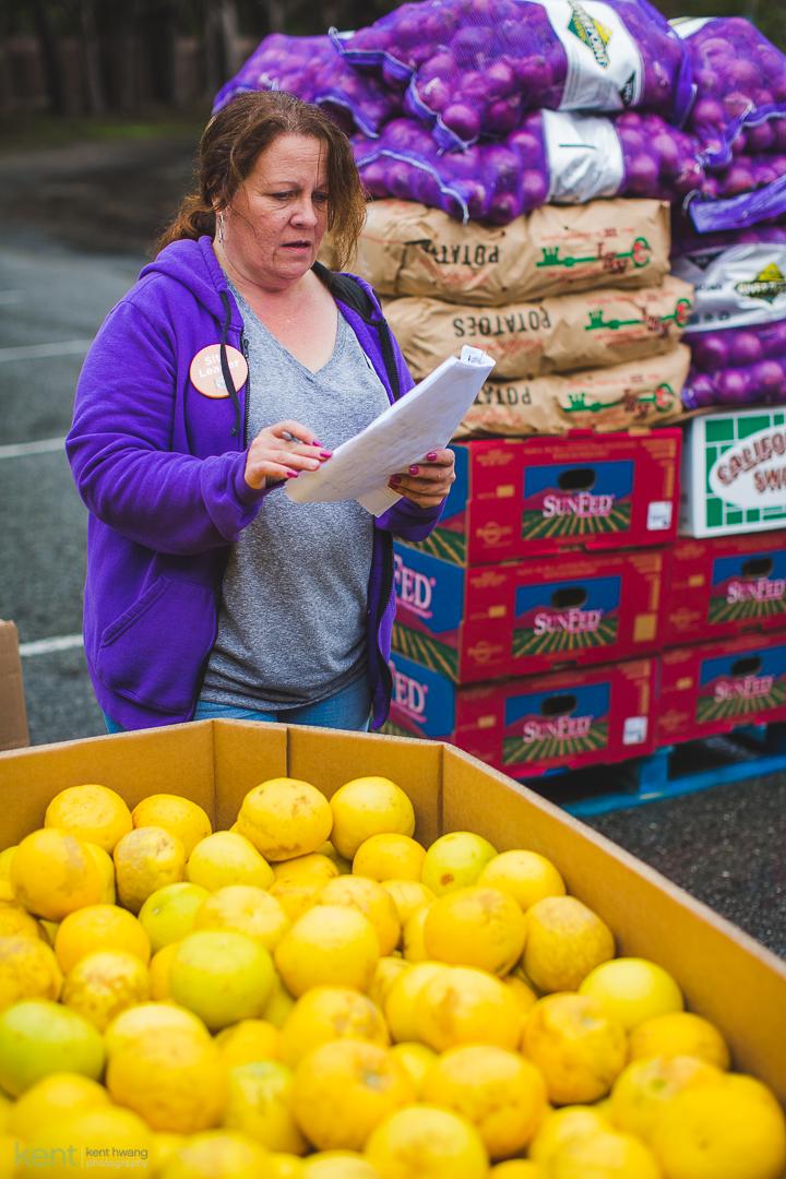PRC Food Programs Coordinator Rose Davis at Family Harvest, 2019 (Photo by Kent Hwang)