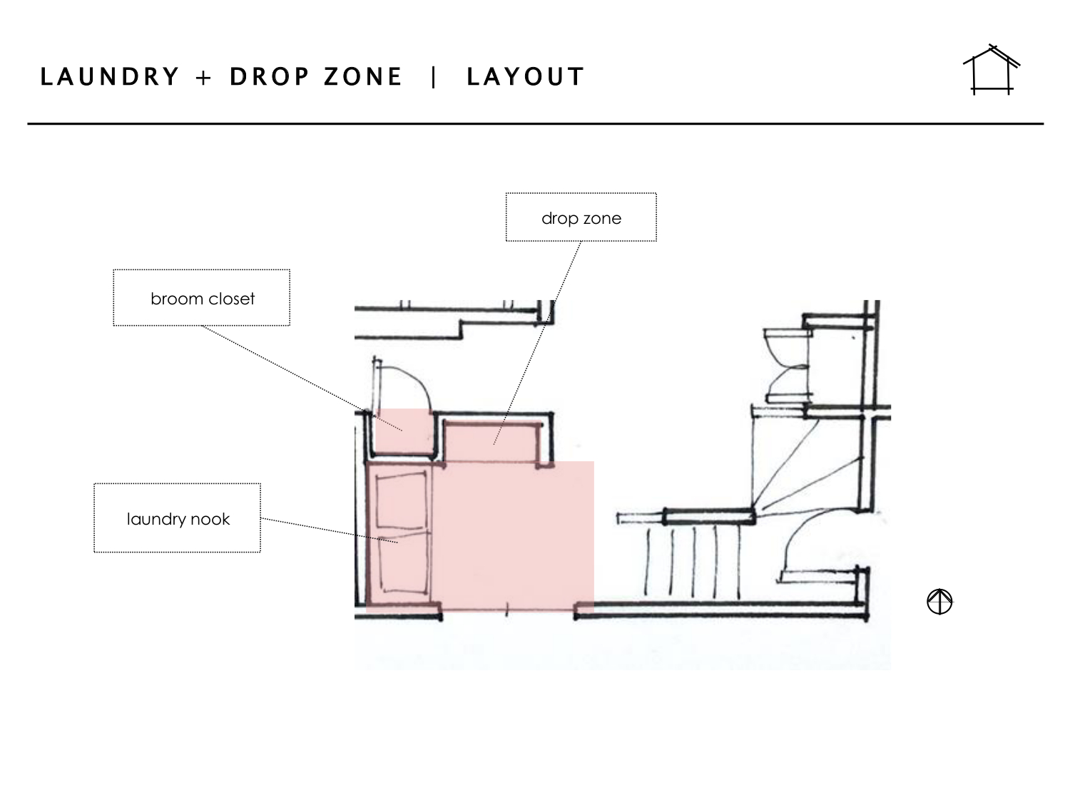 DAILY HOME CO. | Murray Bungalow | Laundry + Drop Zone -- Layout