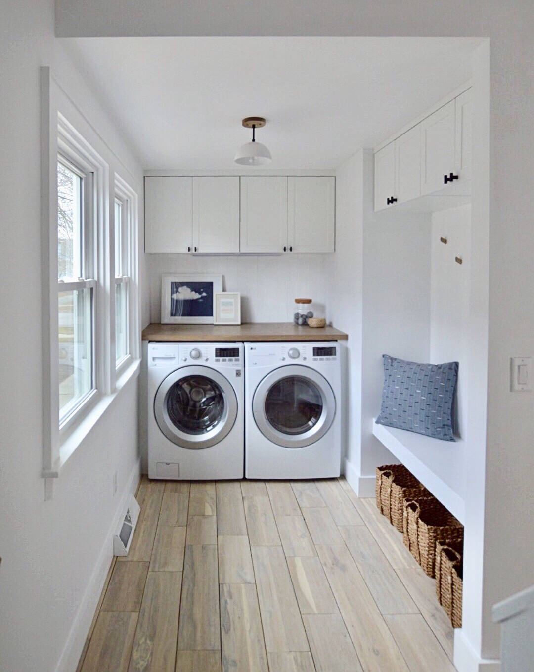 DAILY HOME CO. | Murray Bungalow | Laundry + Drop Zone -- Wide Shot