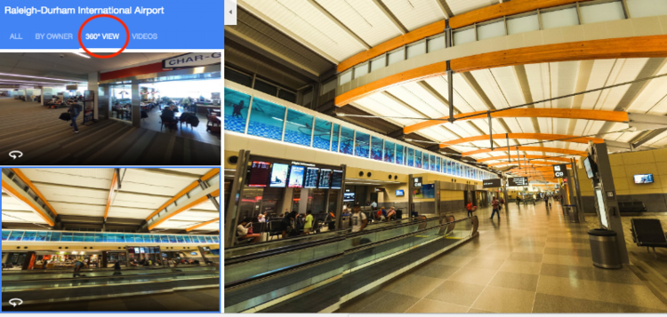 Raleigh-Durham Airport on Google Street View.