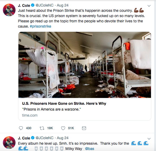 J. Cole's Twitter feed.