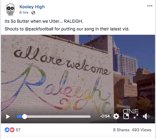 NC rap-group Kooley High on Facebook.