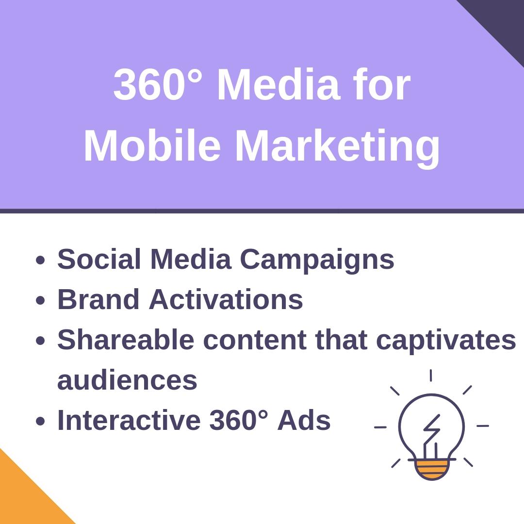 360° Media works great for Mobile Marketing