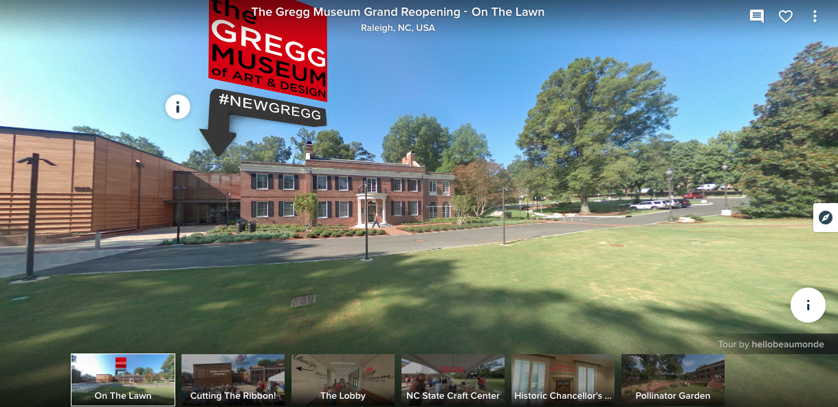 View the full virtual tour  of the Gregg Museum here!