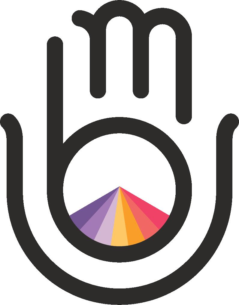Beaumonde Interactive Logo - Mudra Hand & Sunburst