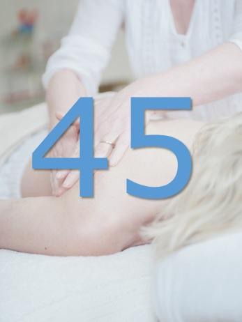 45 minute massage - $57