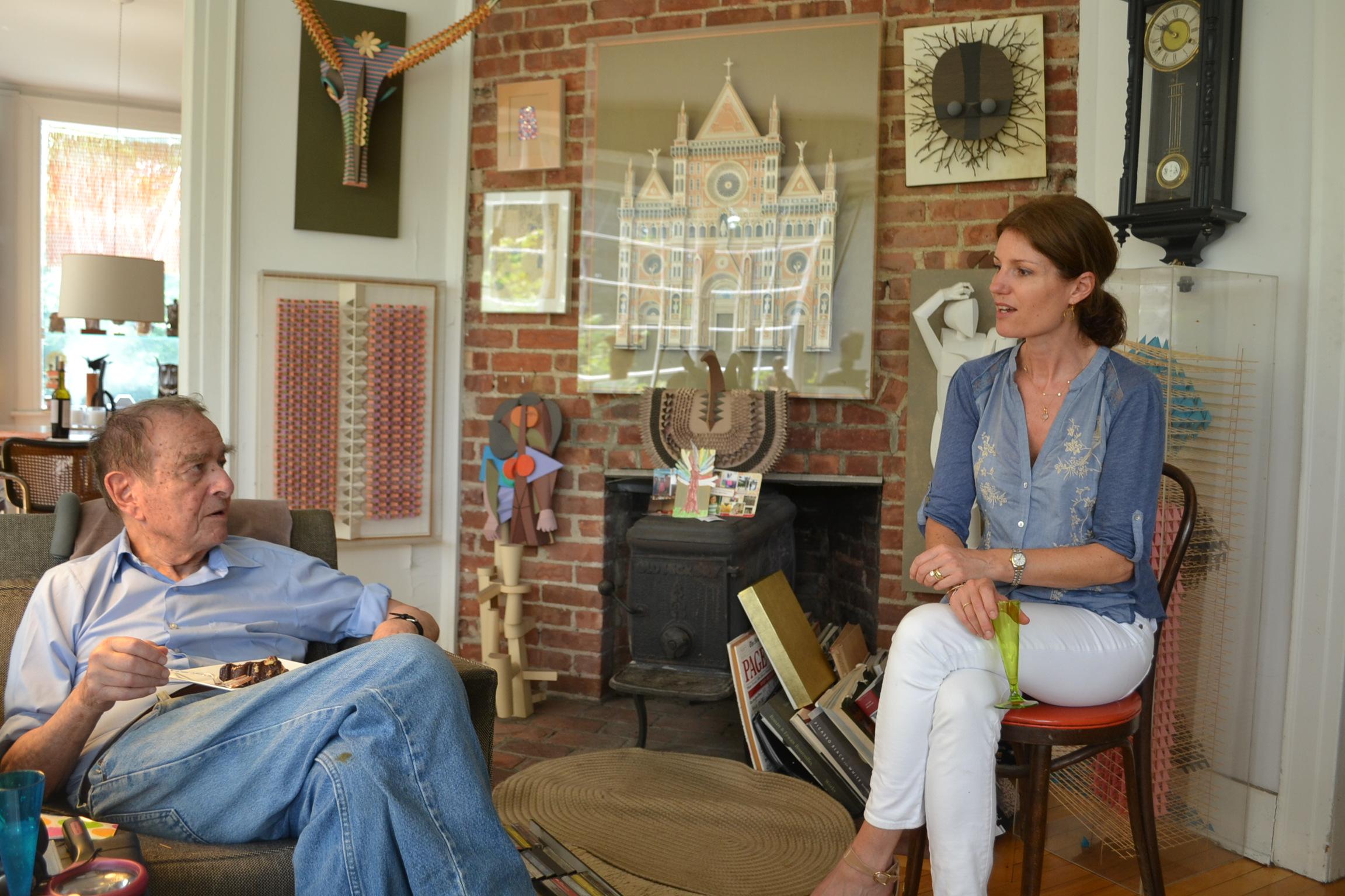 Irving Harper w.curator Katharine Dufault.JPG