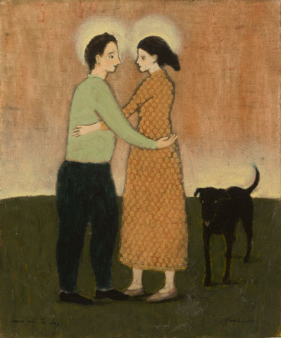 lovers with the dog