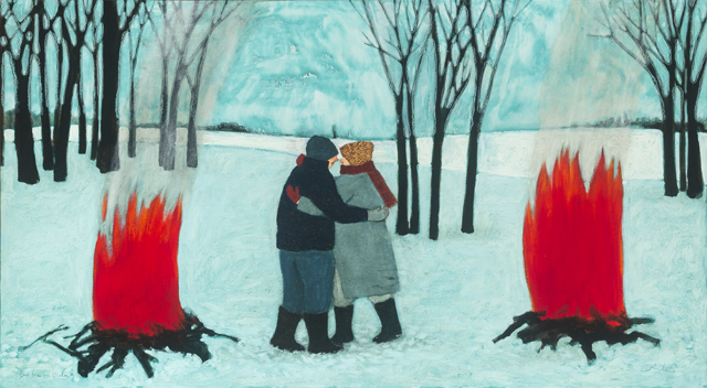 two fires in winter