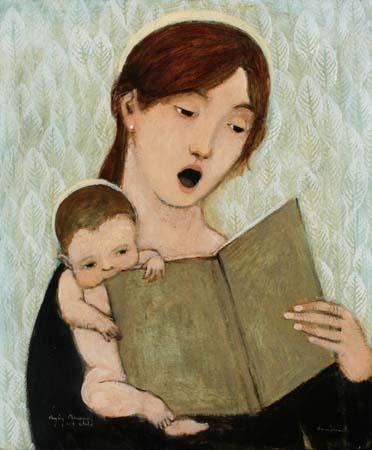 singing Madonna and child