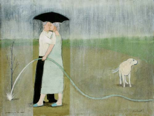 gardening in the rain