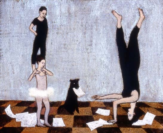 tricks on paper , Brian Kershisnik, 2004