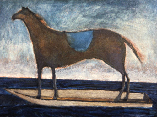 Equestrian painting