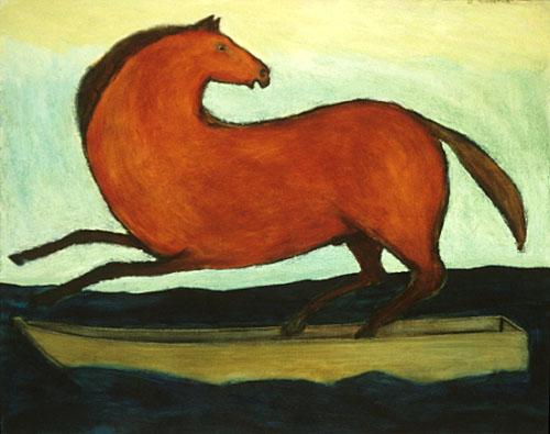Red horse rampant