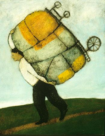 Burden with wheels
