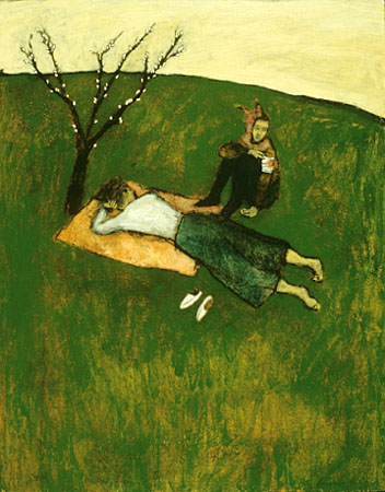 Pastoral with injured fool