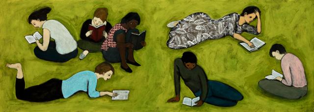 seven women reading