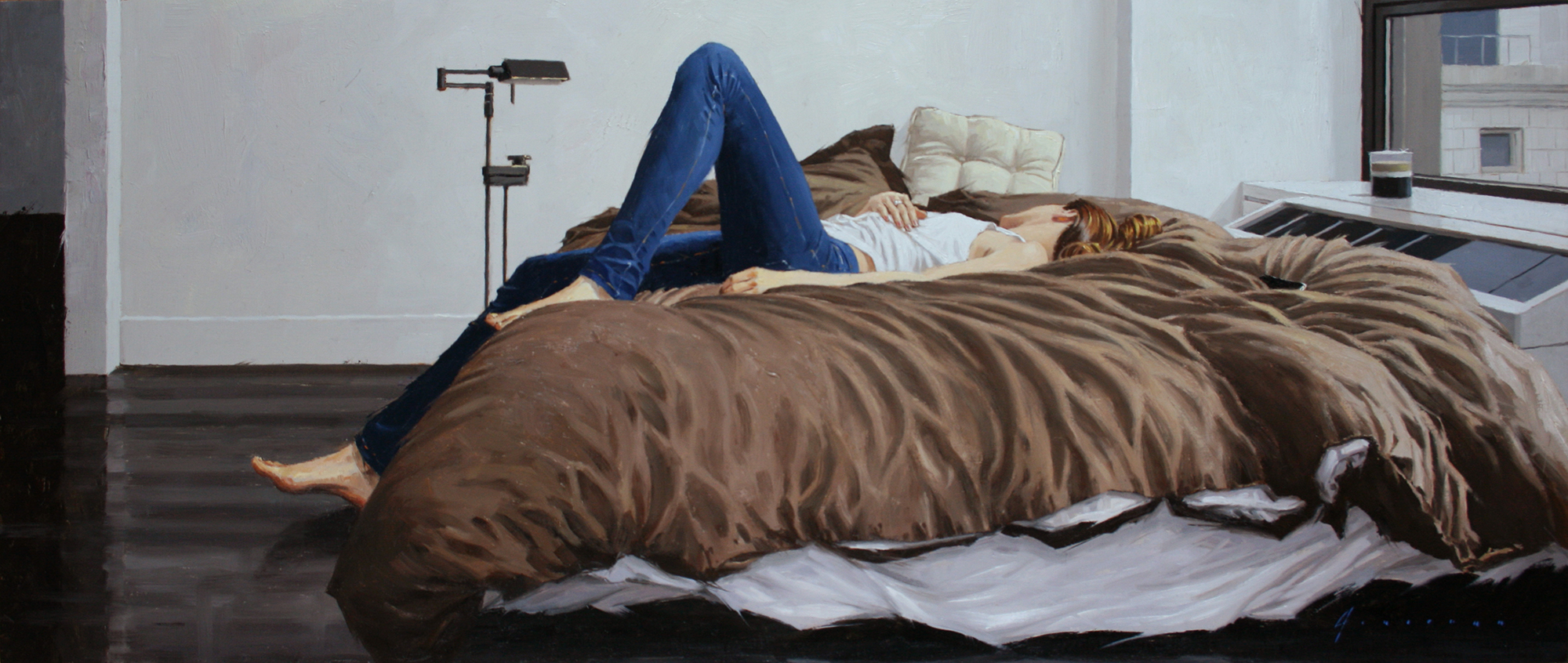 Lana's Bed  oil 10 x 24
