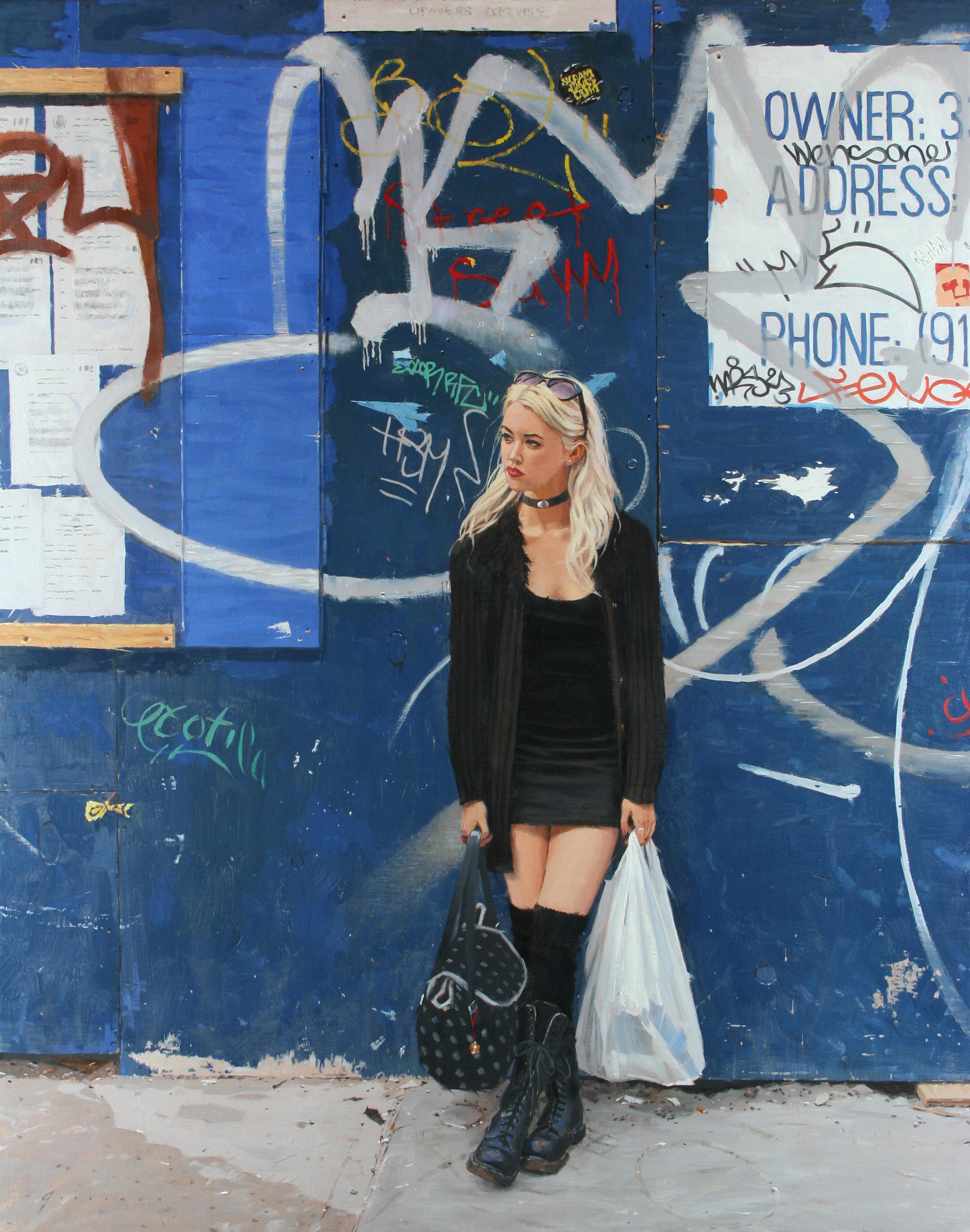 Graffiti   oil  30 x 24