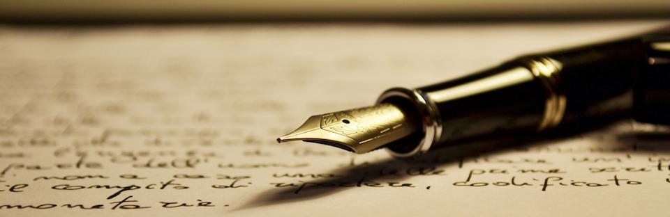 Writing Header Pen & Paper