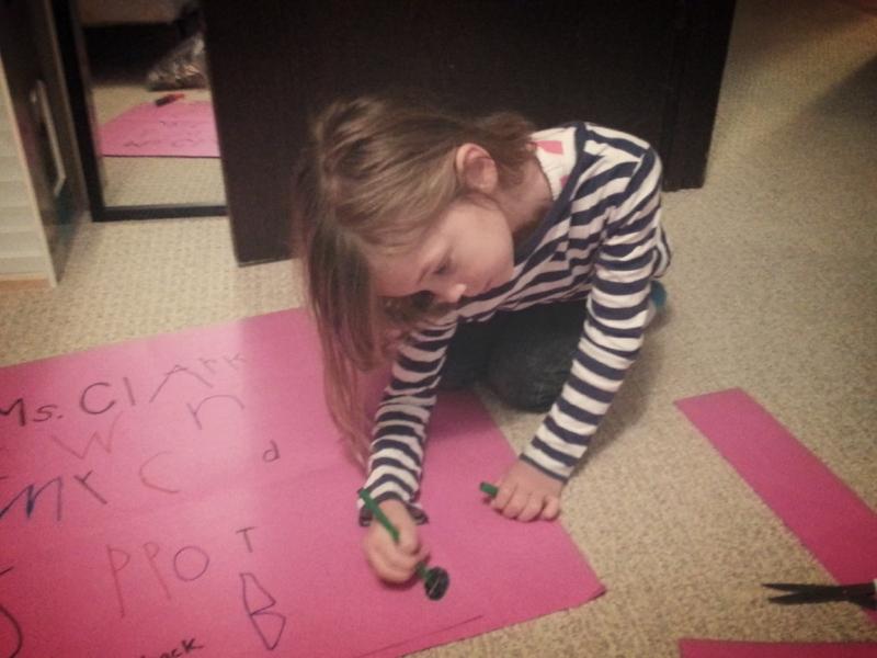 Maya makes her first placard!