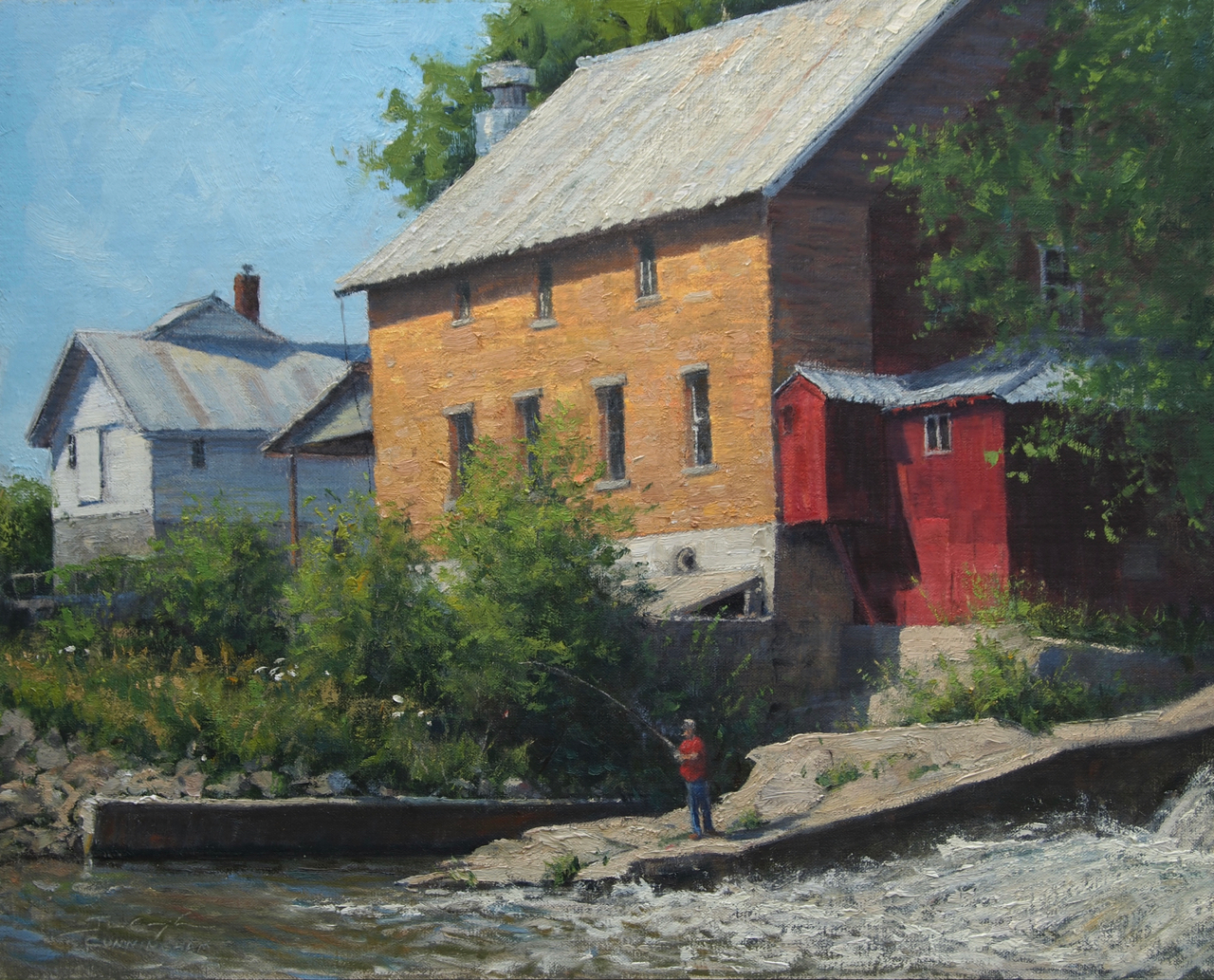 SOLD - Wetting a Line, Litke Mill