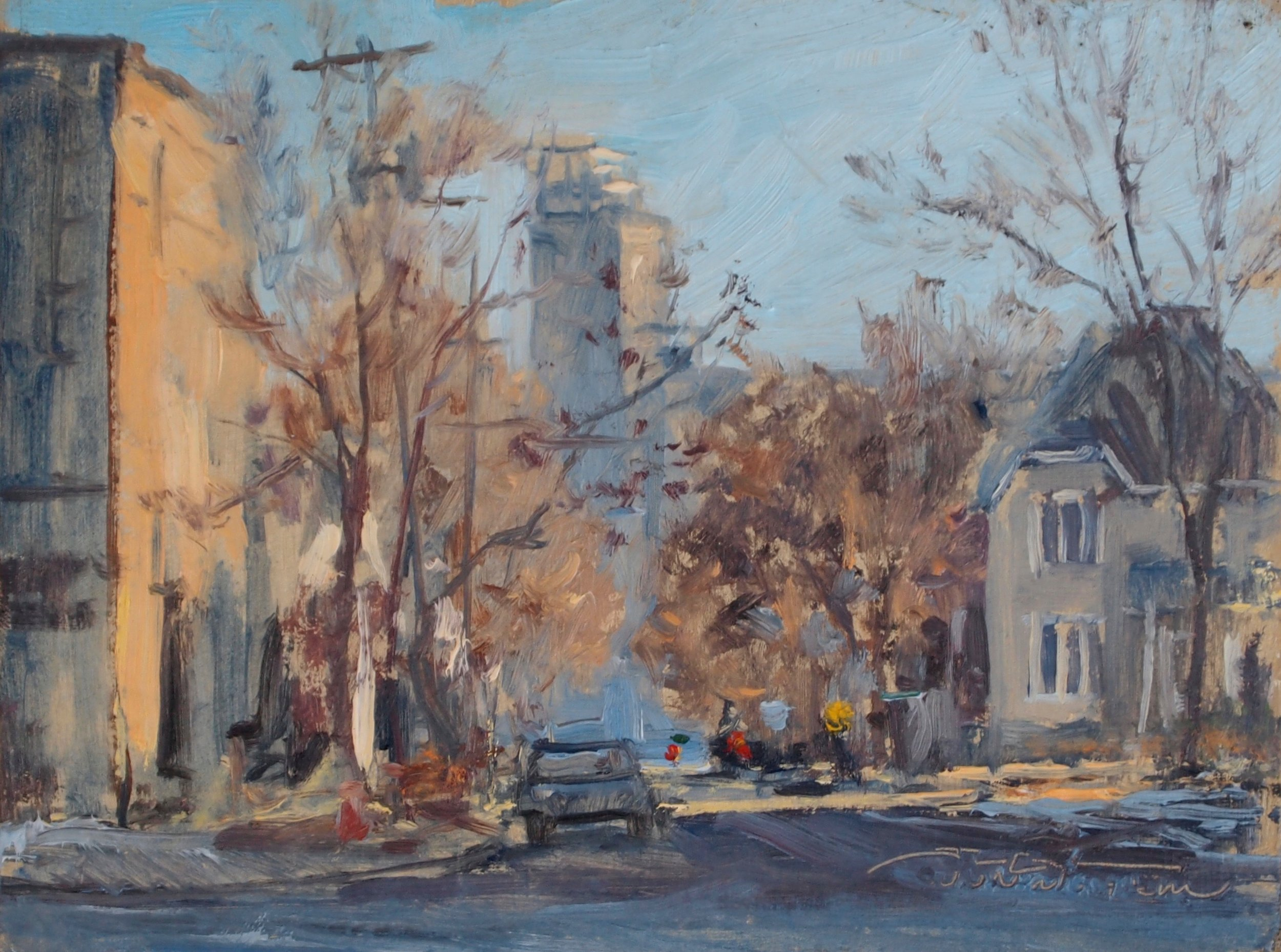 """Waking Watson Avenue""  6""x8"", Oil on Linen , Private Collection   Media Award Winner   St. Paul Art Crawl, Spring 2012"