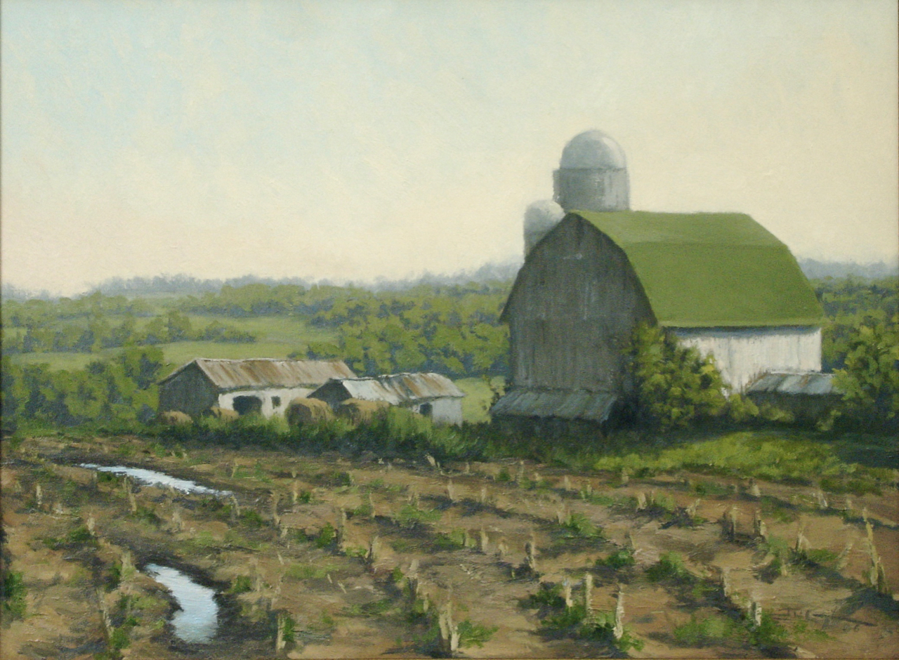 """Fallow Field, Forgotten Farm""  18""x24"", Oil on Linen, Private Collection   Award of Excellence   Annual Members Show 2007  Phipps Center for the Arts,"