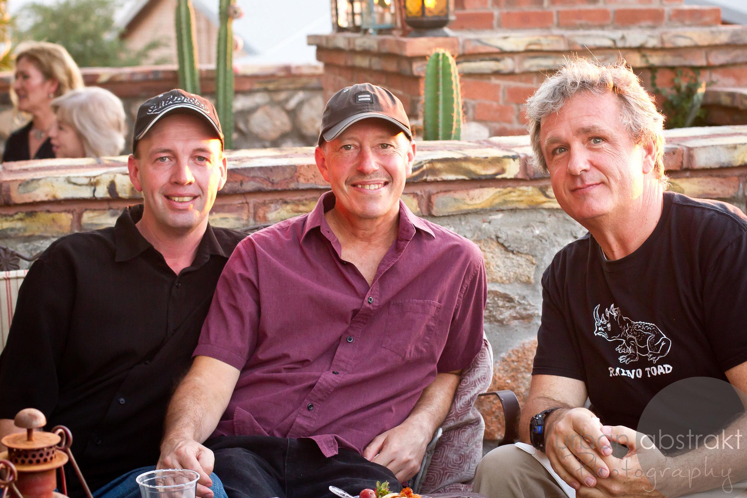 three people sitting image
