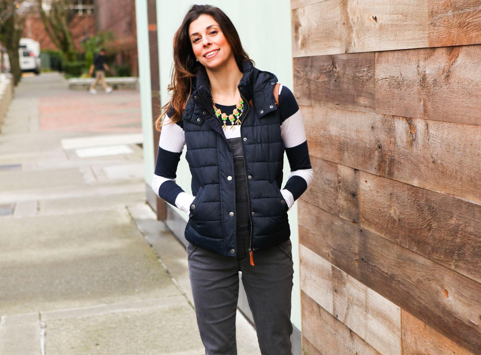 Abercrombie Overalls and vest