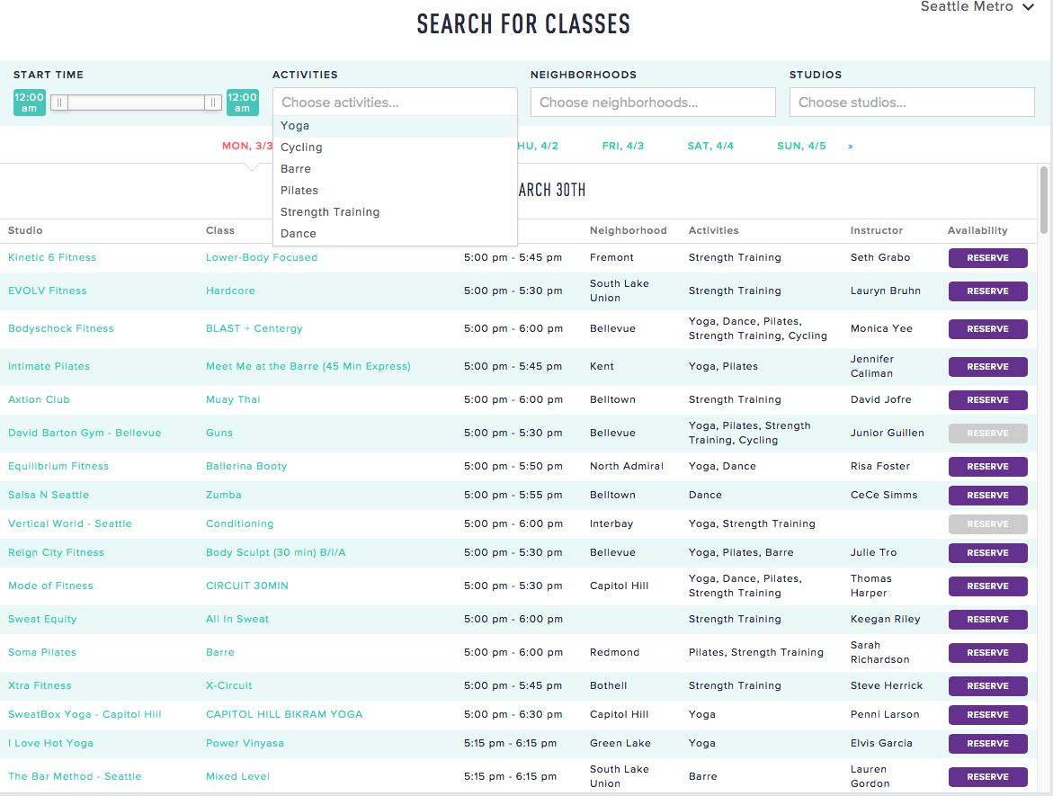 classpass  classes