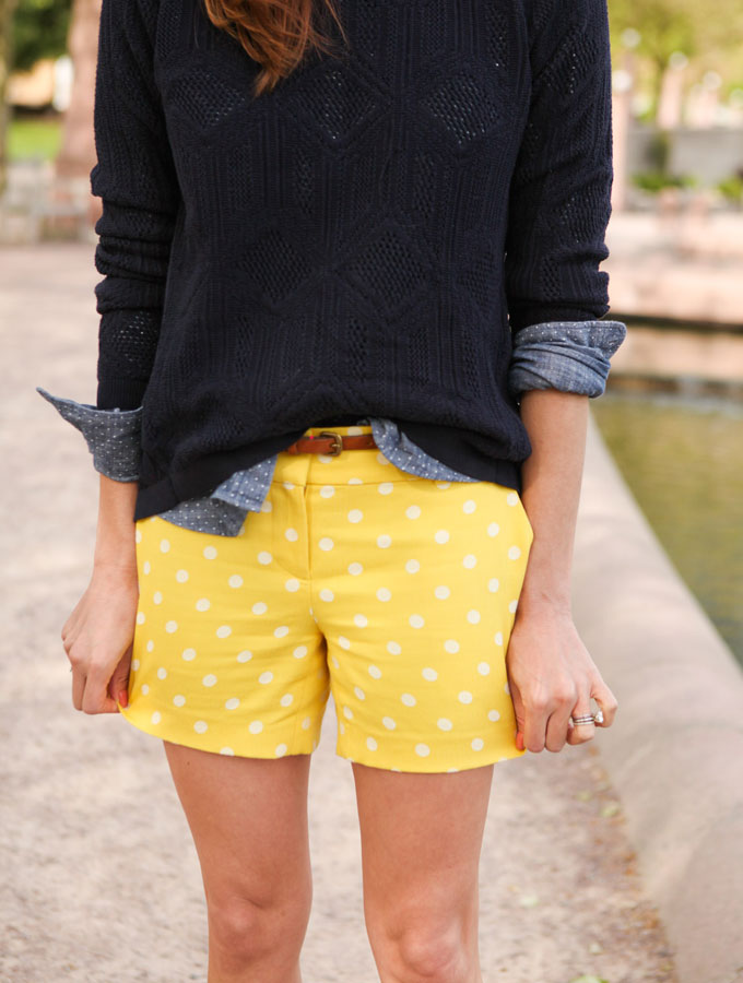 Polka Dot Denim Shirt & shorts