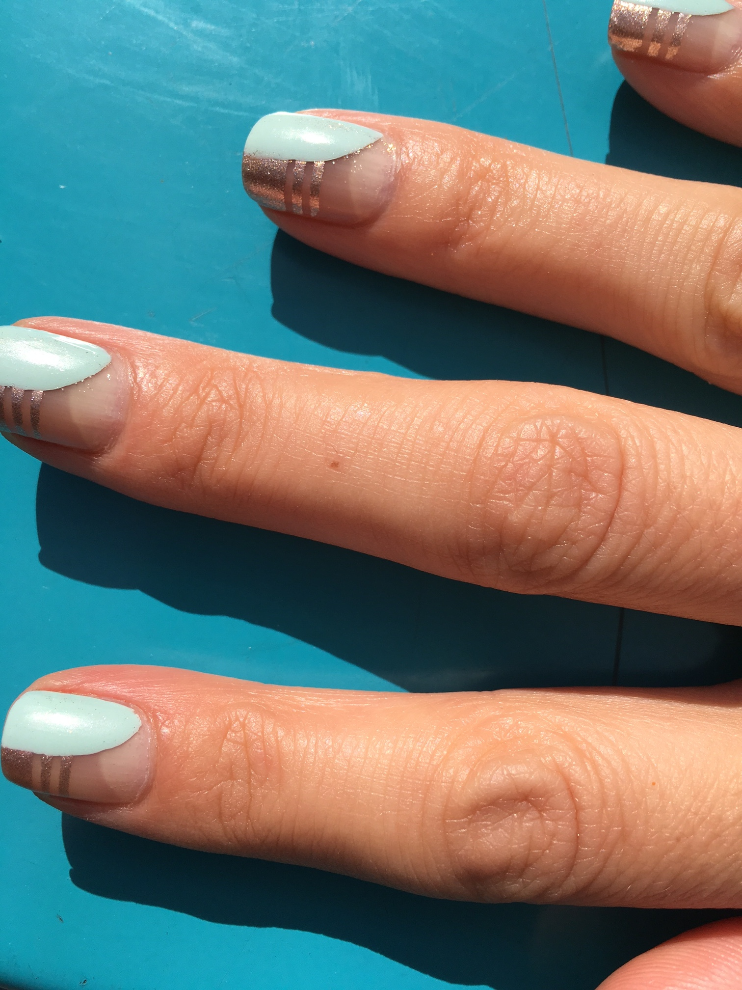 hand modeling this awesome manicure